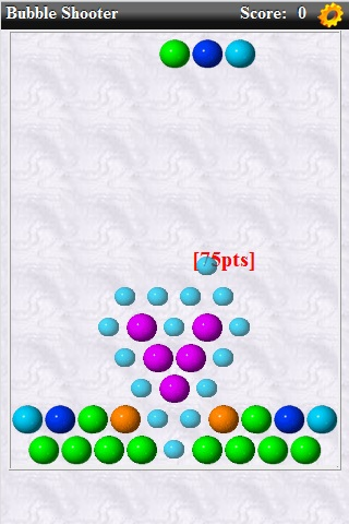 bubble shooter mobile game