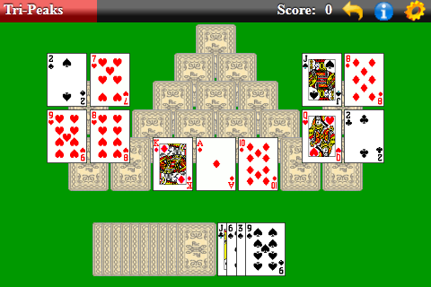 tri peaks solitaire play free